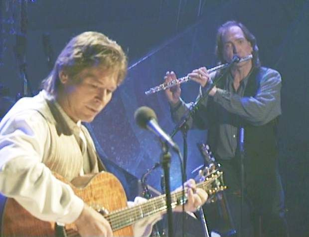 Photo courtesy of Jim Horn | John Denver and Jim Horn play together during the John Denver Wildlife Concert in 1995. (From The Aspen Times archives - 2013)