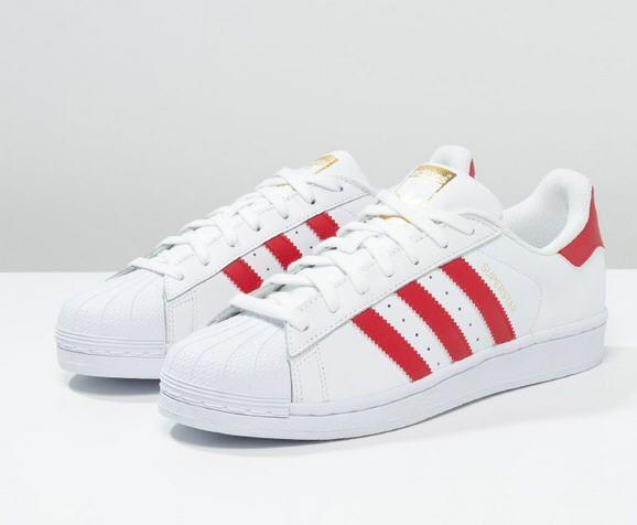3f6f168ae8d35 Adidas Originals SUPERSTAR FOUNDATION Baskets basses white scarlet ...