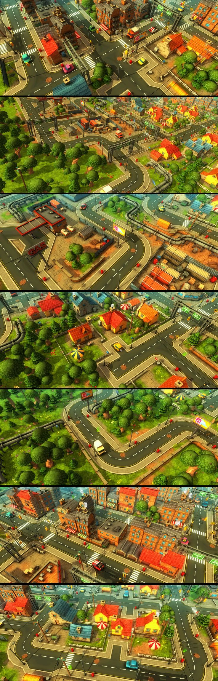 Cartoon Town and Farm - contains tons of models to create scenes such as: farm, village, city in a cartoon/comic-style