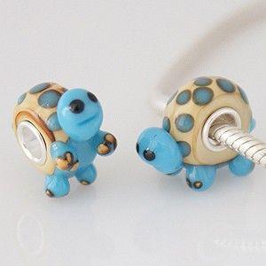partner S925 Animals murano lampwork glass beads -- wholesale silver beads glass swarovski charms fit partner Bracelets
