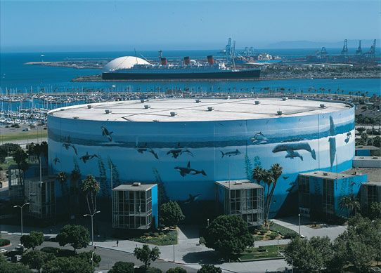 Wyland Wall Planet Ocean Long Beach Convention Center California Largest Mural In The World Guinnes Illusory Art Architecture
