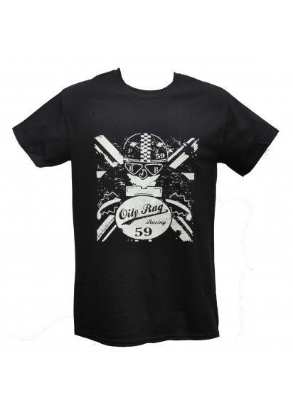 Oily Rag Vintage Café Racer Black T-Shirt Classic Retro Motorcycle Tee Size XL