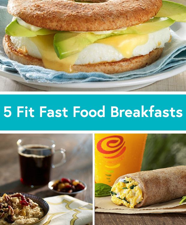 Running late? Don't skip breakfast, opt for these healthy on-the-go alternatives from Mcdonald's, Starbucks, Jamba Juice and more. via Daily Burn