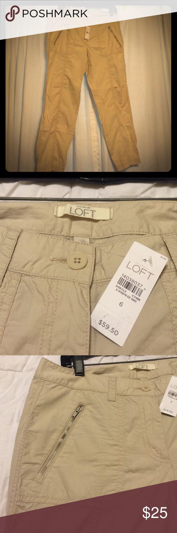 The Loft Marisa Style khaki Capris! The Loft Marisa Style Sz 6 NWT lightweight Khaki capris! LOFT Pants Capris
