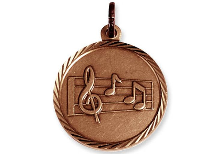 """BRONZE STAFF MEDAL - 1¼"""".     Now you can save money and get the flexibility you need to offer first, second or third place awards! Medallions, medals, pin drapes and neck ribbons sold separately. Easy to assemble."""
