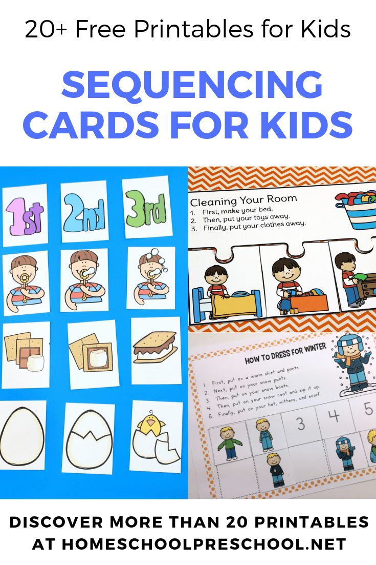 Free Printable Preschool Sequencing Cards