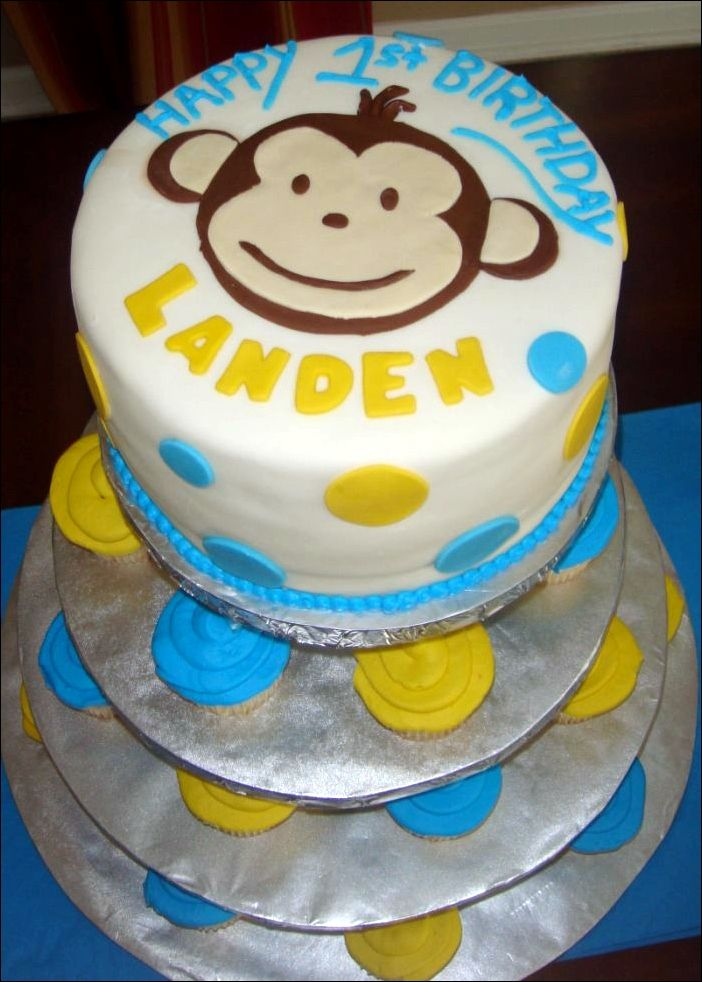 Simple First Birthday Cake Ideas Boy