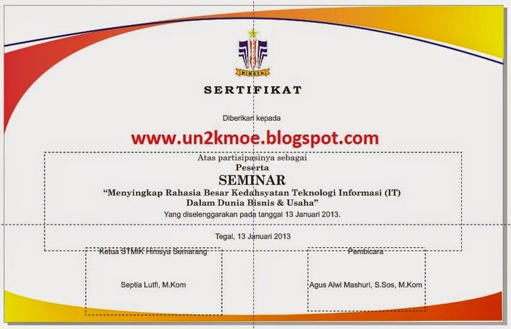 Download Undangan Gratis   Desain Undangan Pernikahan & Khitan   Tutorial Desain Grafis: download contoh format blangko sertifikat seminar gratis bisa diedit filetype: cdr