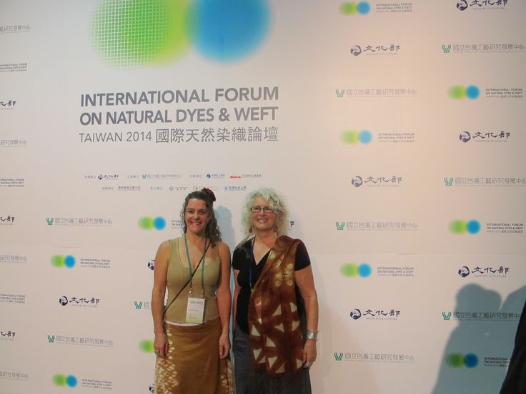 Susan Fell Mclean and Andrea Jones from Australia at the International Forum of Natural Dyes and WEFt Taiwan 2014 More images https://www.facebook.com/groups/632276316858027/photos/