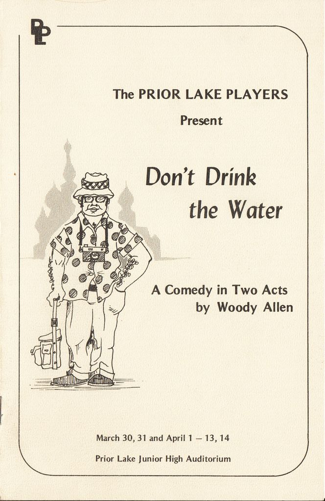Don't Drink the Water   Prior Lake Players