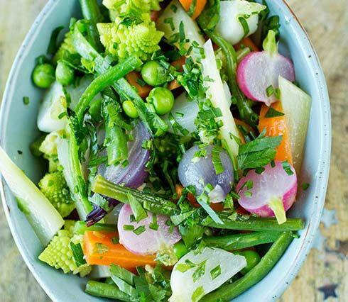 Bilde av glaserte grønnsaker