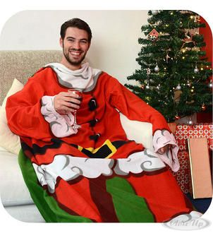 Snug Rug Weihnachtsmann Kuscheldecke mit Ärmeln Hier bei www.closeup.de