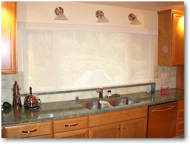 Kitchens sinks without windows google search kitchen for Kitchen window treatments above sink