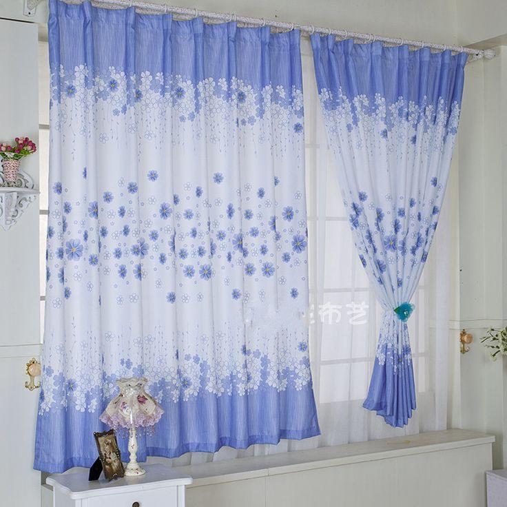 Напечатаны синим окна спальни на заказ занавес для гостиной высокого 2 М, CL-05