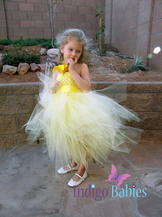 10 best flower girl dresses images on pinterest dresses for girls tutu dress flower girl dress pale yellow tulle by indigobabies 6500 minus the flower mightylinksfo