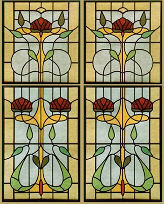 17 best images about art nouveau stained glass on for Art glass windows and doors