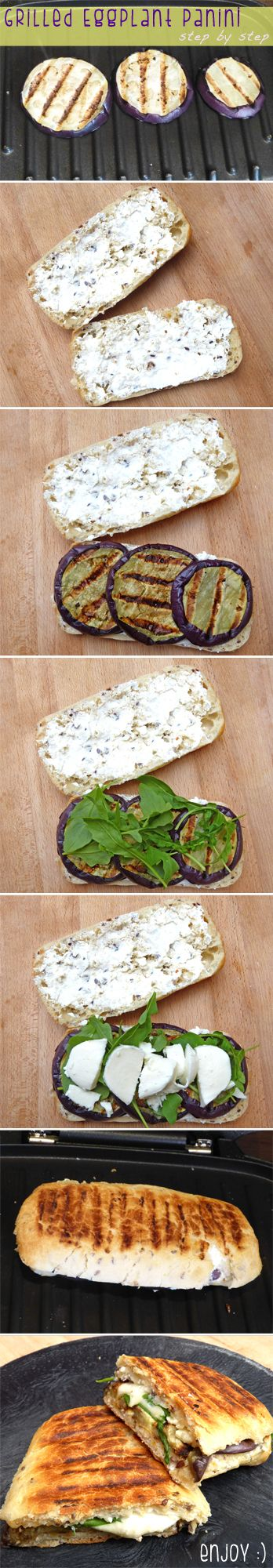This vegetarian Grilled Eggplant Panini is full of Italian flavour and perfect for a quick but nutricious lunch!