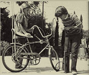 Chopper Bicycle. You were all too eager to help the neighbours long-haired daughter keep her bike in tip top shape.