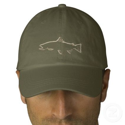 Trout Tracker Hat - Olive Embroidered Hats: Show your passion for trout and fly fishing with official Trout Tracker hats.  #flyfishing