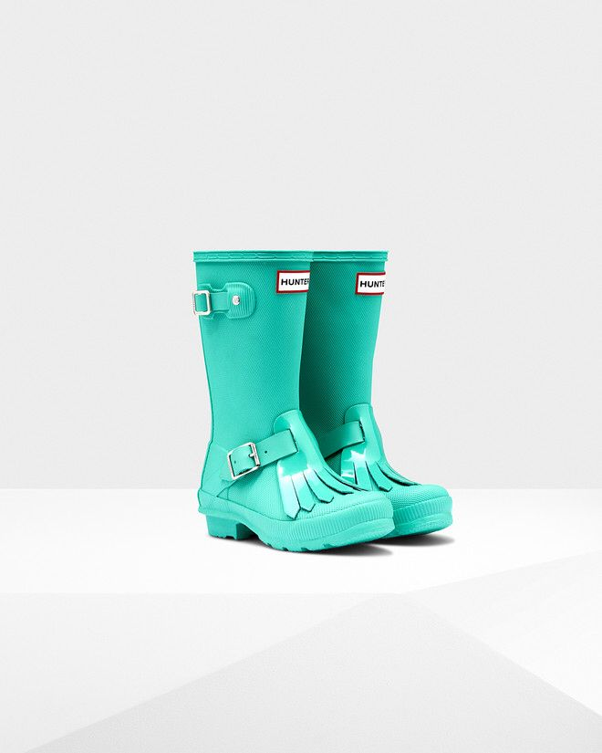 Hunter fringe rain boots for kids