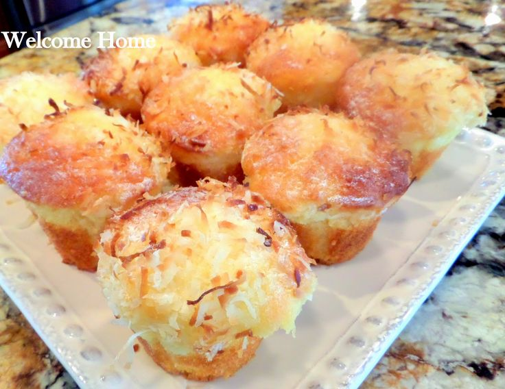 I made these early this morning and my whole house smells so tropical!  The smell of baked pineapple and sweet va...