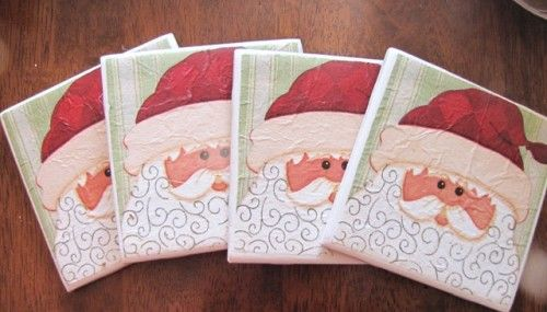 10 Ideas To Make Cool Christmas Coasters | Shelterness