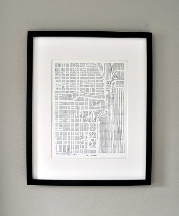city print of chicago illinois extracted from