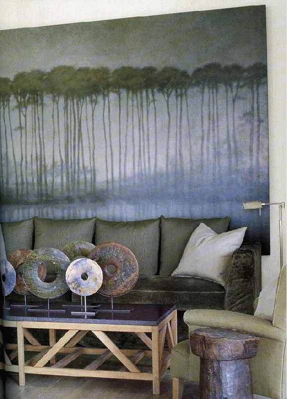 McAlpine..My style..love the painting over sofa