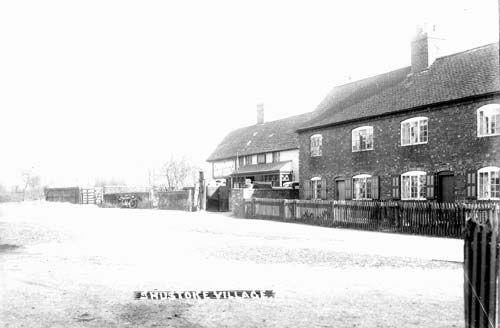 Shustoke. Village street and cottages (The Plough Inn)