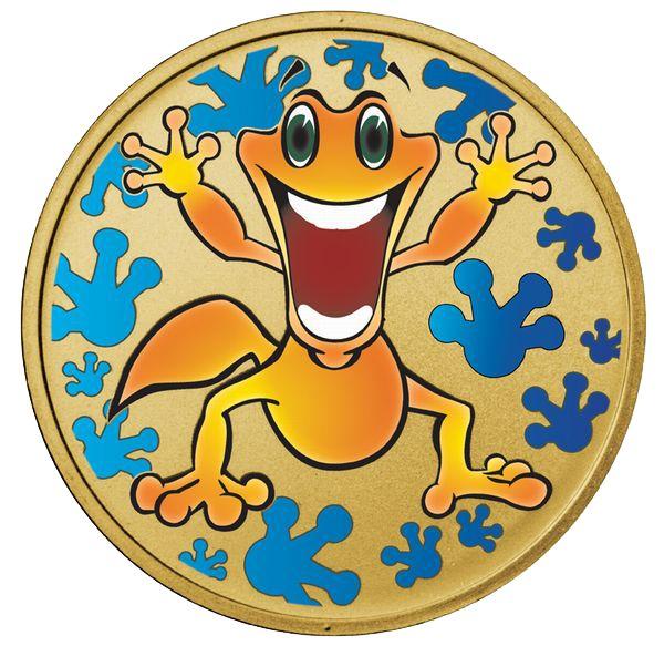 """Животные Австралии ~ Набор из 12 монет + медальон """"Геккон Гордон"""" 12 х 1 доллар Австралия 2008 Монетный двор г.Перт (Австралия) Цена от 3600 грн. Превосходный подарок на День Рождения"""