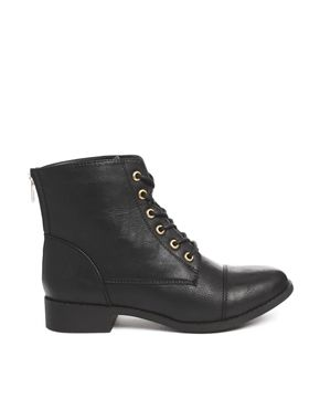 New Look Wide Fit Blip Lace Up Ankle Boots