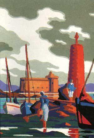 Peinture de Kerga - La baie de Morlaix - Le château du taureau