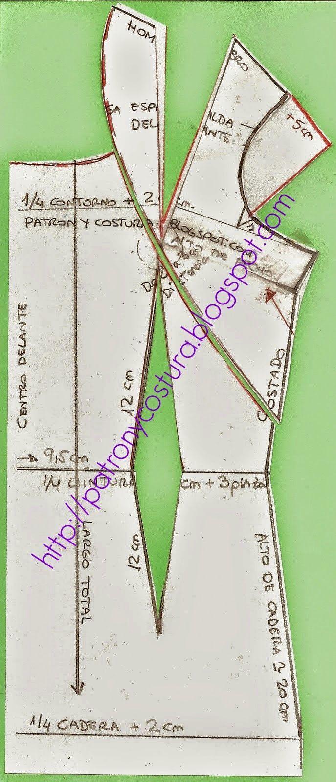 http://www.patronycostura.com/2014/10/hacemos-el-patron-del-vestido-entallado.html