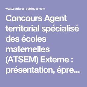 Concours Agent territorial spécialisé des écoles maternelles (ATSEM) Externe : présentation, épreuves et programmes - Carrières Publiques