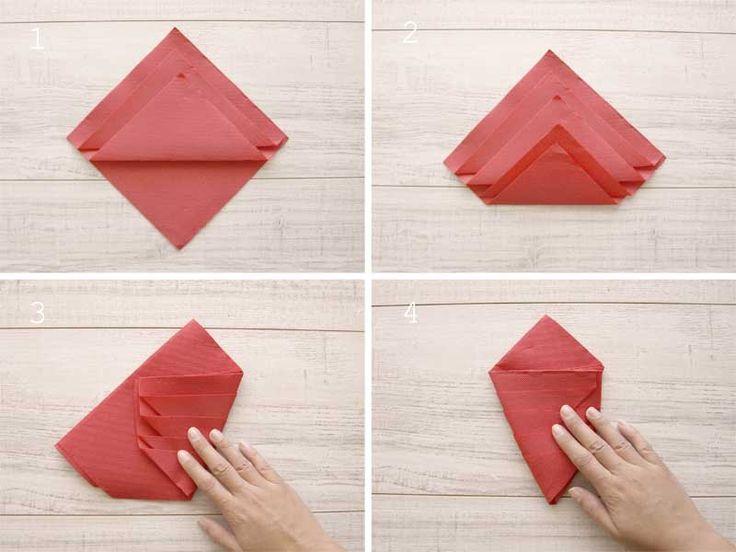 M s de 25 ideas incre bles sobre doblar las servilletas en - Origami con servilletas ...