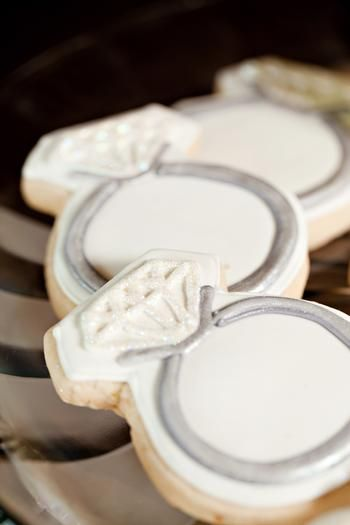 ring cookies   Jimmy Choo Inspired Bridal Shower