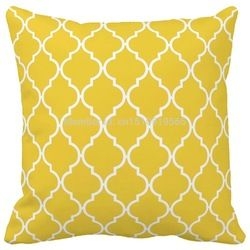 Online Shop Freesia Yellow Coral Quatrefoil Geometric Pattern Print Home Decorative Throw pillow case decorate sofa cushion cover|Aliexpress Mobile