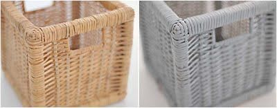 spray paint baskets to suit your color scheme - totally gonna do this