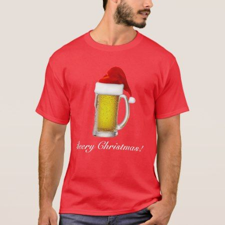 Mens Funny Beery Christmas Beer T Shirt - click/tap to personalize and buy