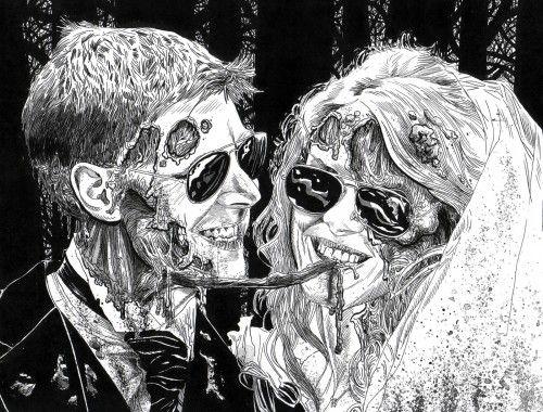 Картинки по запросу zombie art black and white