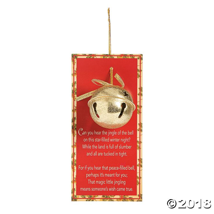 Legend of the Jingle Bell Christmas Ornaments with Card Gold   Christmas bells, Christmas ...