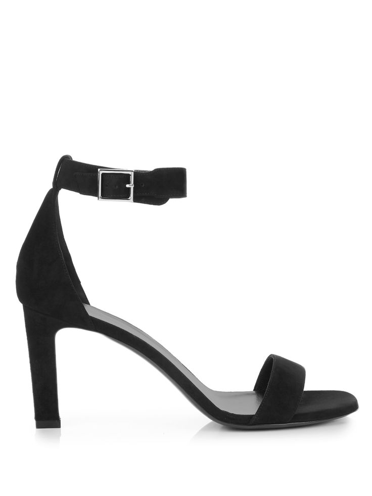 Sleek and versatile, Saint Laurent's black suede Grace sandals are a  perfect day-to