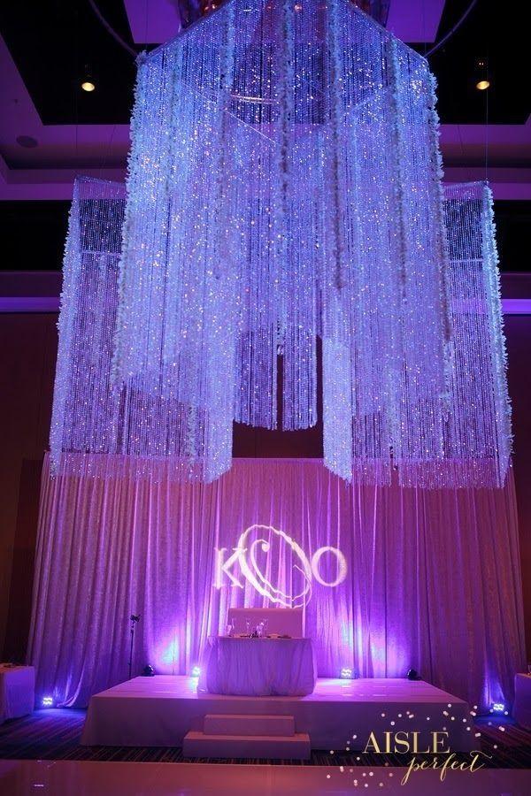 Hanging Wedding Decor by Raining Roses Productions