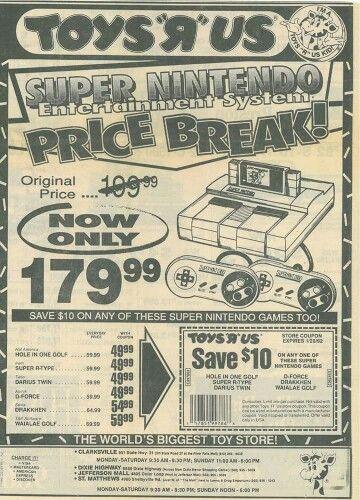 Toys R Us SNES ad  Nintendo SNES Super Nintendo Video