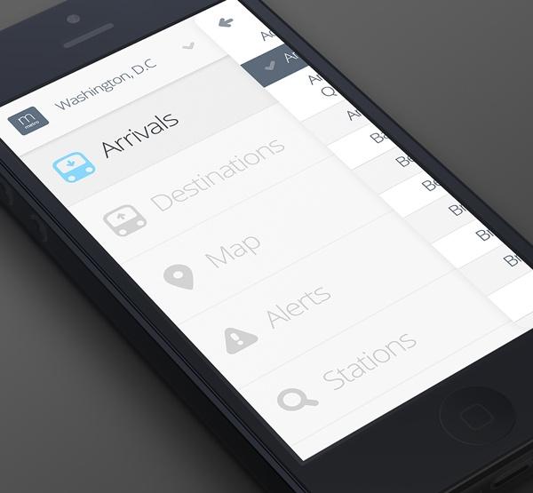 MetroLite App by Alex S. Lakas , via Behance