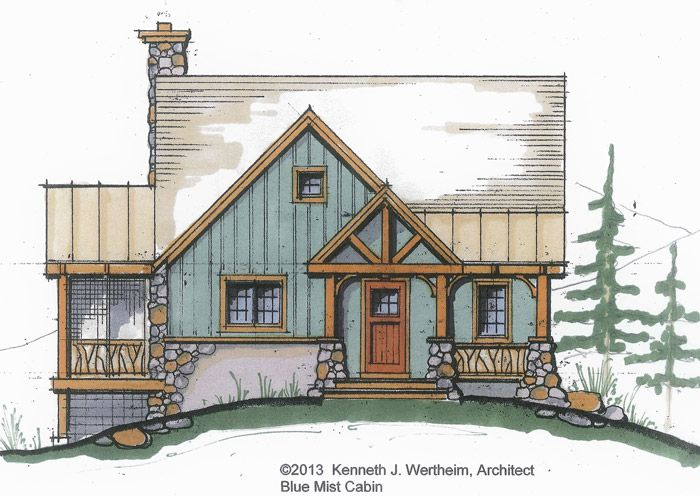 The Blue Mist Cabin: A Small Timber Frame Home Plan | Timberpeg Post and Beam