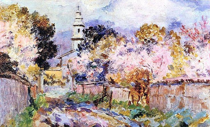 """Juan Francisco González, """"Calle de Limache"""". Pintura chilena."""
