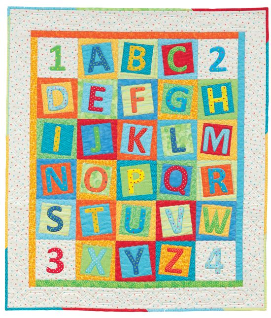 Alphabet Quilt from 'Cuddle Me Quick' by Christine Porter and Darra Williamson at Martingale