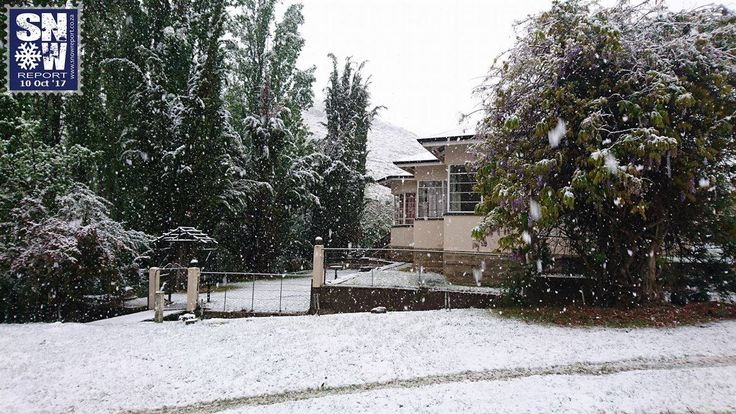 Heavy Snowfall in South Africa (Aside from the Tornado and Floods)