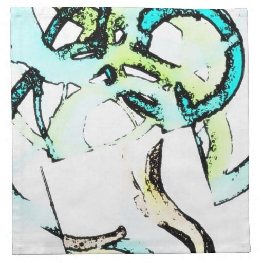 http://www.zazzle.com/digiphile* Art Gallery in your dining room. This set of 4 cloth napkins, $34.95!